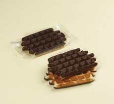 Halb schokolatierte vanille waffel, 80g