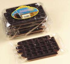 Vanille Waffel, halb Schokolade, 80g